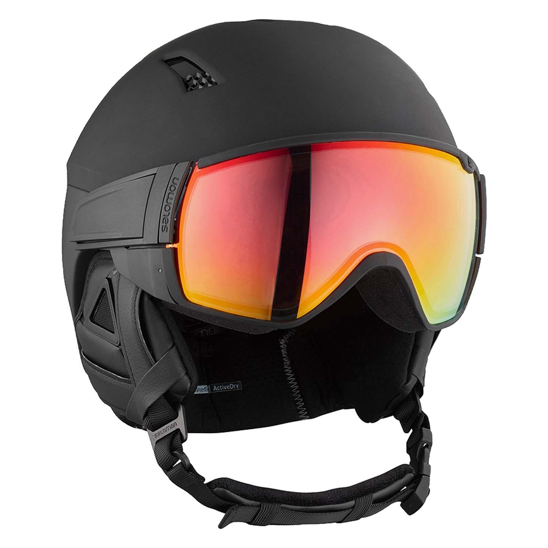 Salomon Driver CA Photo Visor Helmet Black/Red All Weather
