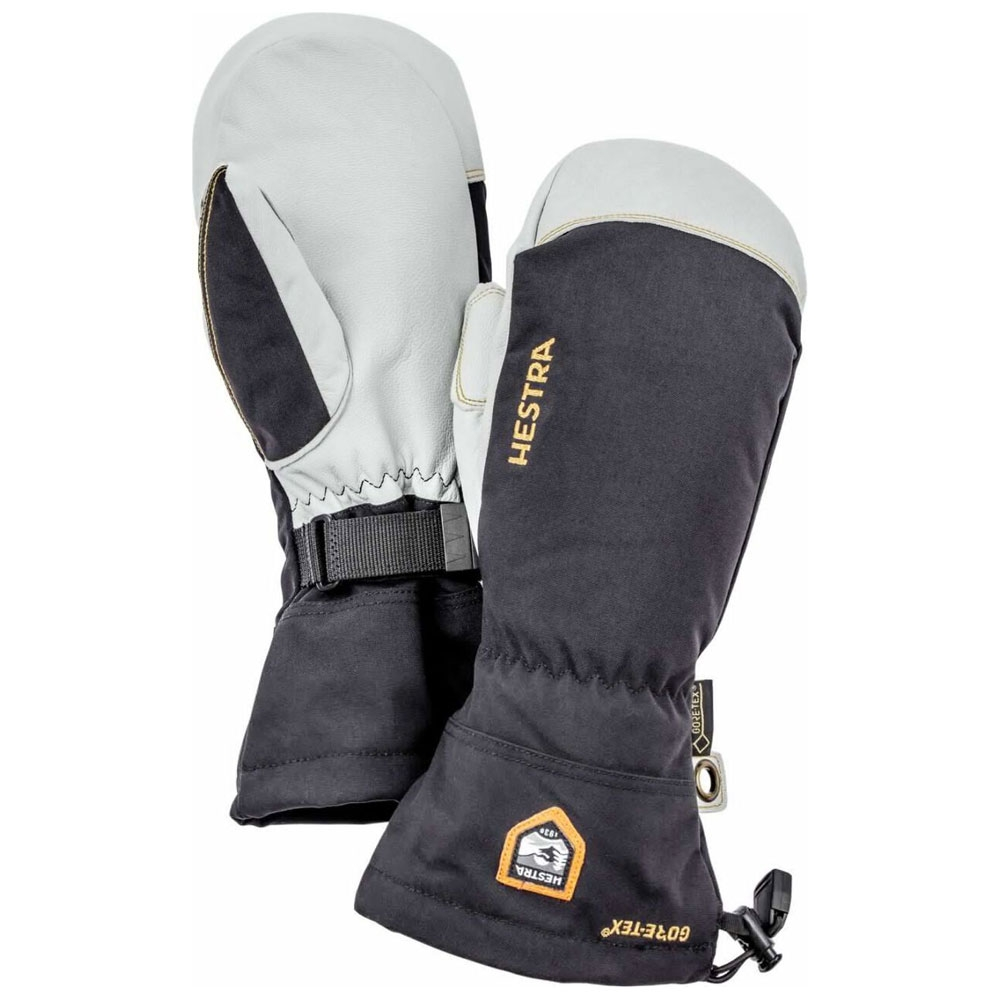 Hestra Army Leather Gore Tex Mitts Black 2021