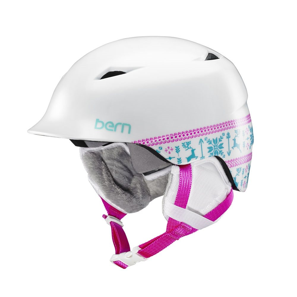 Bern Camina Helmet Satin White Fair Isle 2018