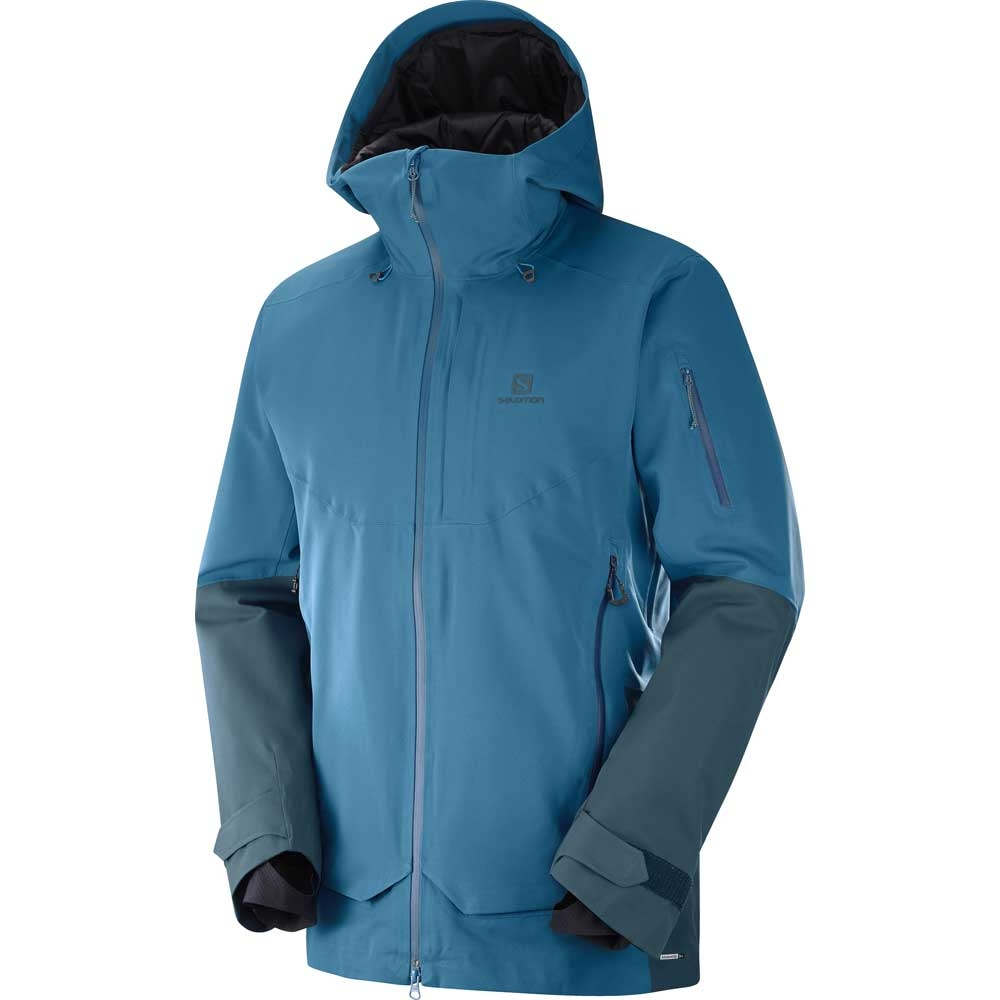 Salomon QST Guard Mens Jacket Moroccan Blue/Reflecting Pond 2019
