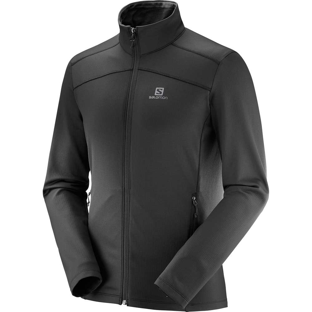 Salomon Discovery LT FZ Mens Midlayer Black 2019