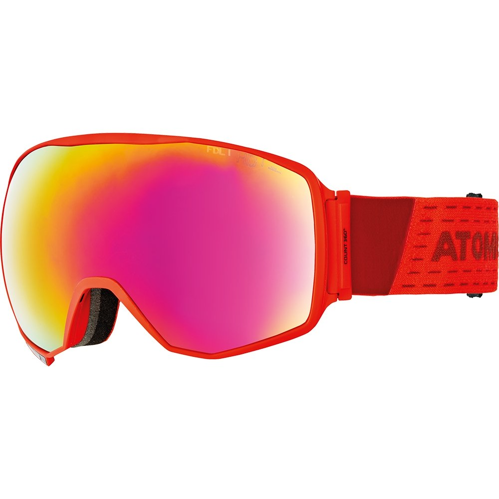 Atomic Count 360 HD Goggle Red 2019