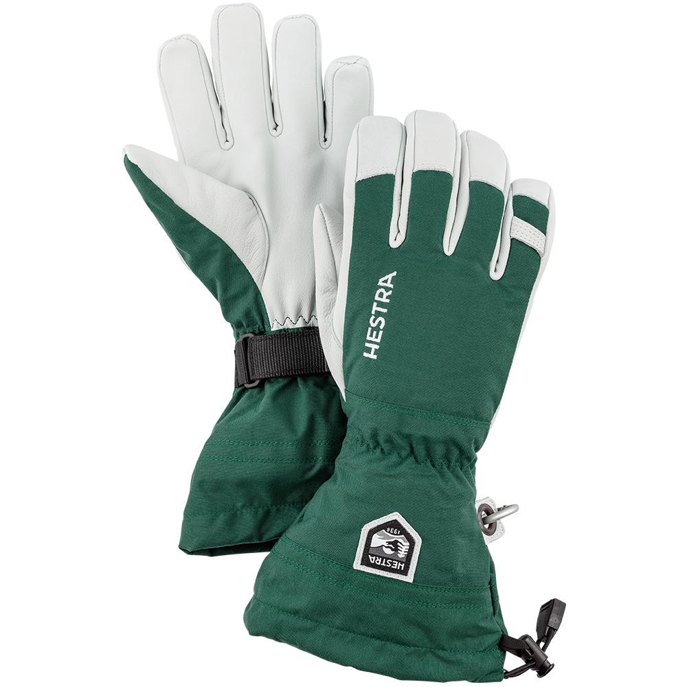 Hestra Army Leather Heli Ski Glove Green 2019