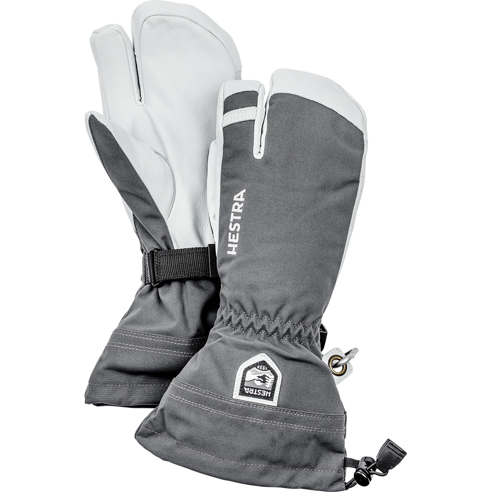 Hestra Army Leather Heli Ski 3 Finger Grey 2019
