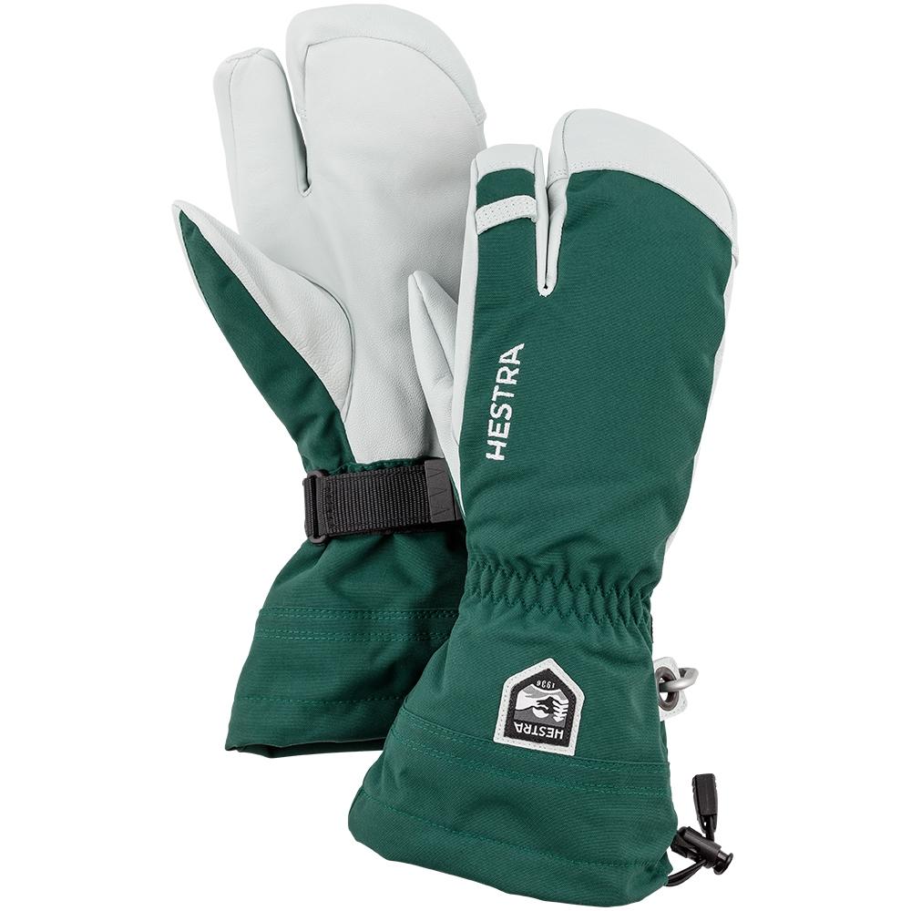 Hestra Army Leather Heli Ski 3 Finger Green 2019
