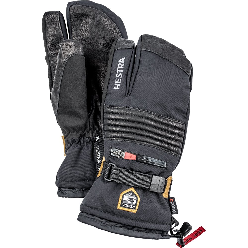Hestra All Mountain Czone 3 Finger Black 2019