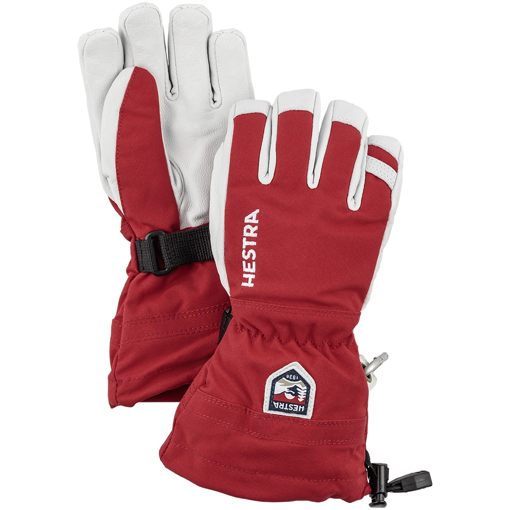 Hestra Army Leather Heli Ski Jr Red 2019