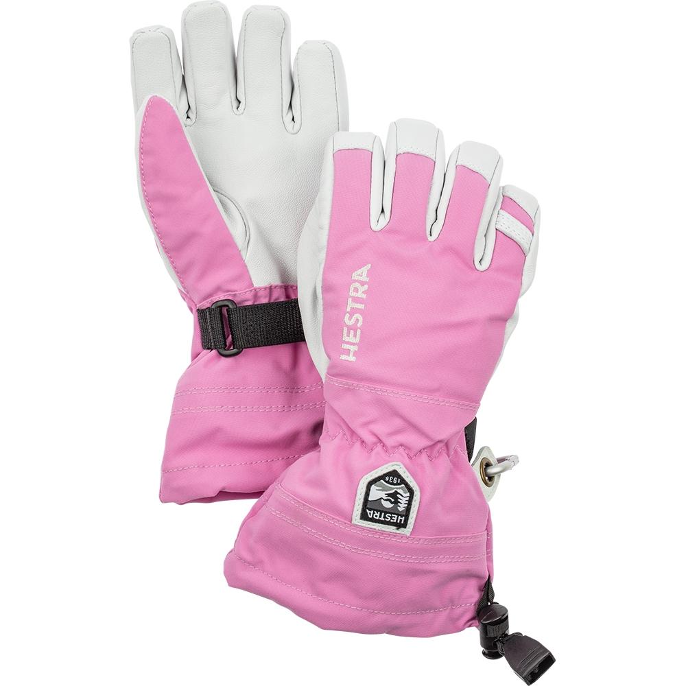 Hestra Army Leather Heli Ski Jr Pink 2019
