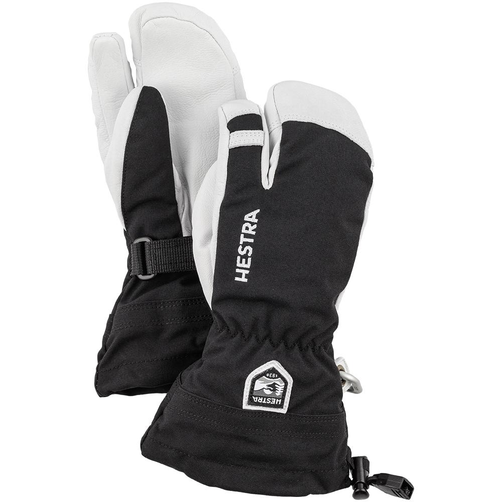 Hestra Army Leather Heli Ski Jr 3 Finger Black 2019