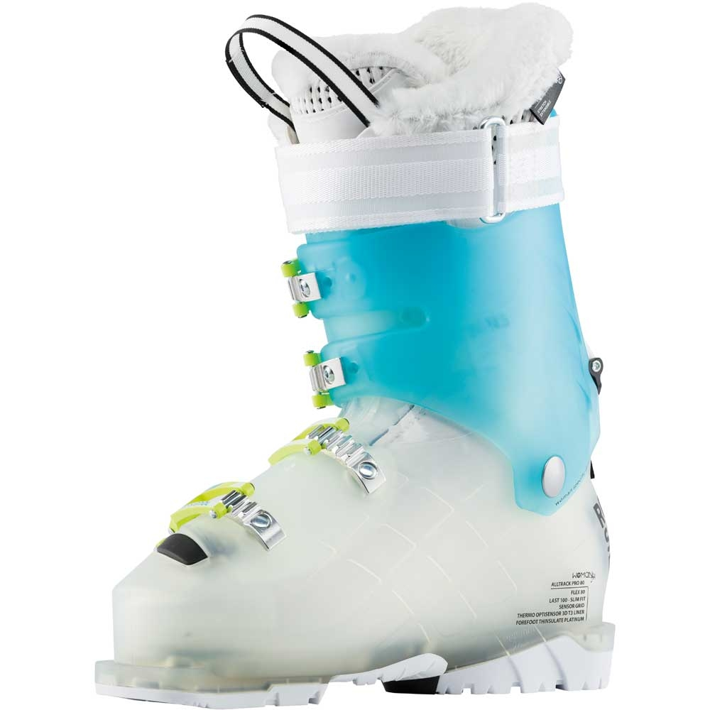 Rossignol Alltrack Pro 80 Womens Ski Boot Transparent Mint 2019