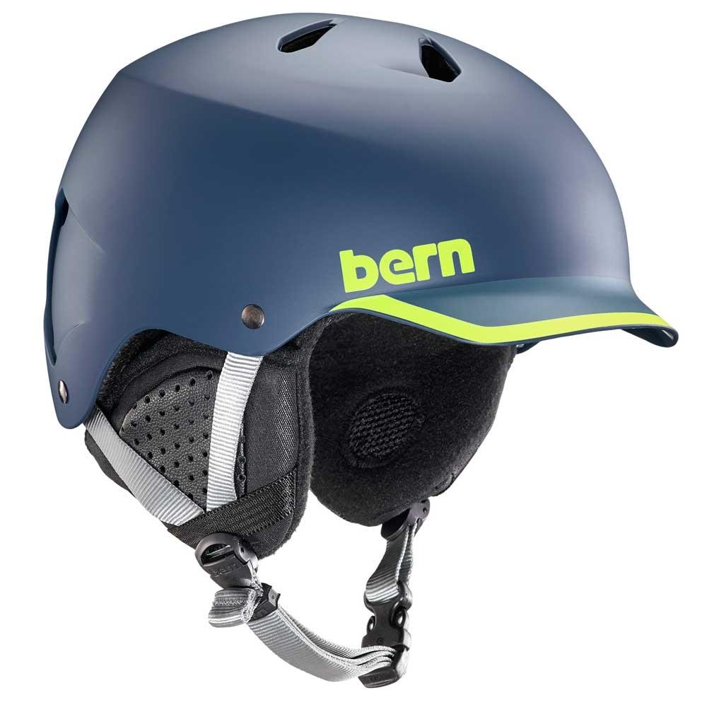 Bern Watts Helmet Matte Navy/Hyper Green Trim 2019