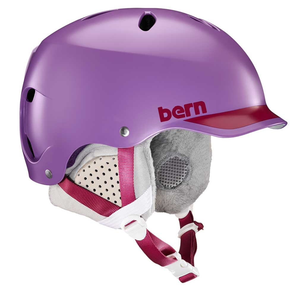 Bern Lenox Womens Helmet Satin Purple/Cranberry Trim 2019