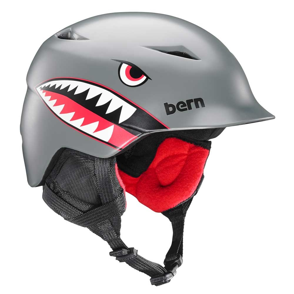 Bern Camino Jr Unisex Helmet Satin Grey Flying Tiger 2019