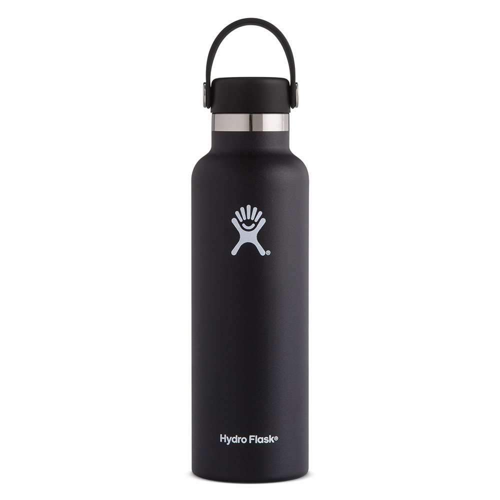 Hydro Flask 21oz Standard Mouth Water Bottle with Flex Cap Black