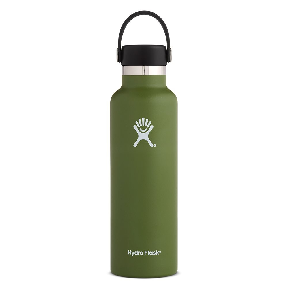 Hydro Flask 21oz Standard Mouth Water Bottle with Flex Cap Olive