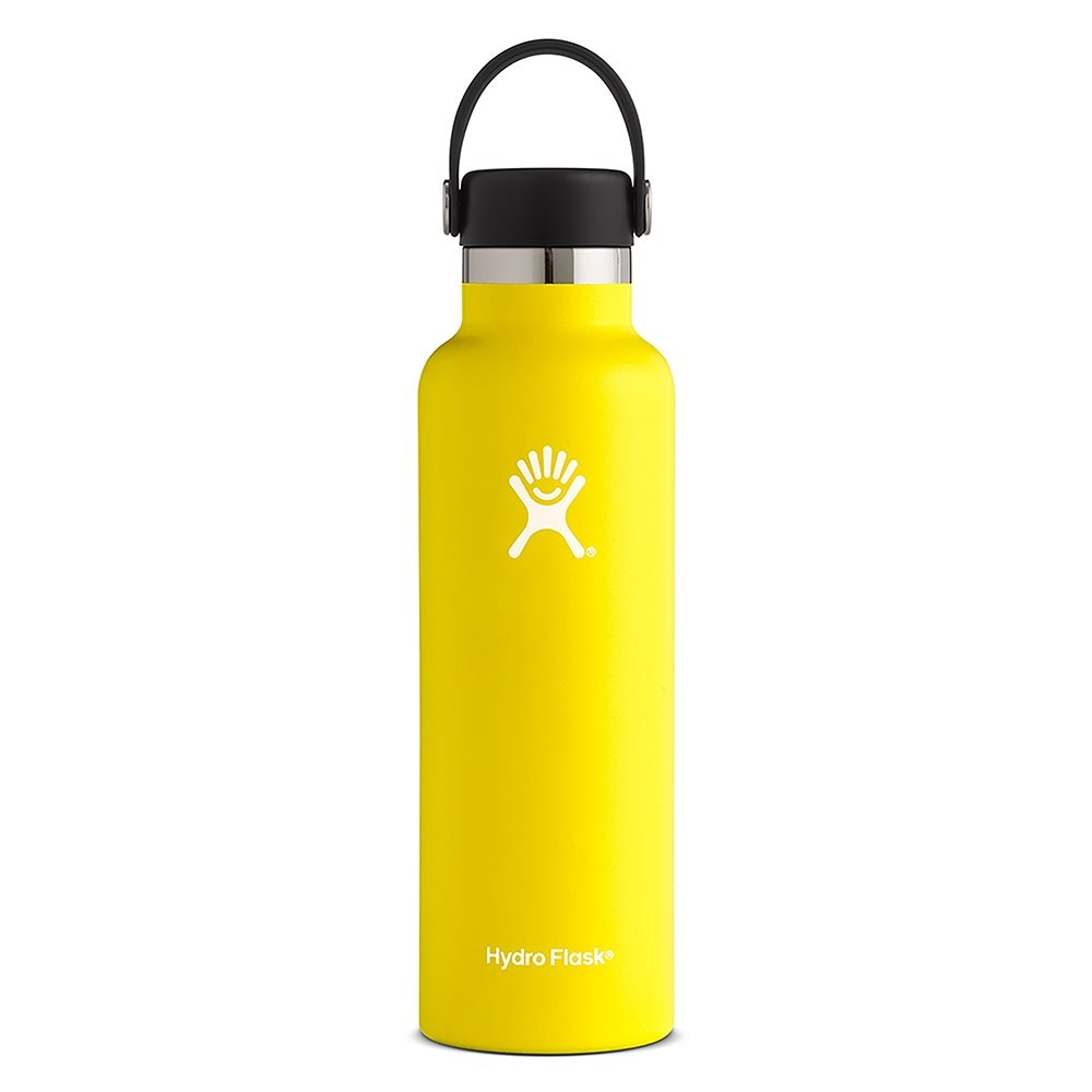Hydro Flask 21oz Standard Mouth Water Bottle with Flex Cap Lemon