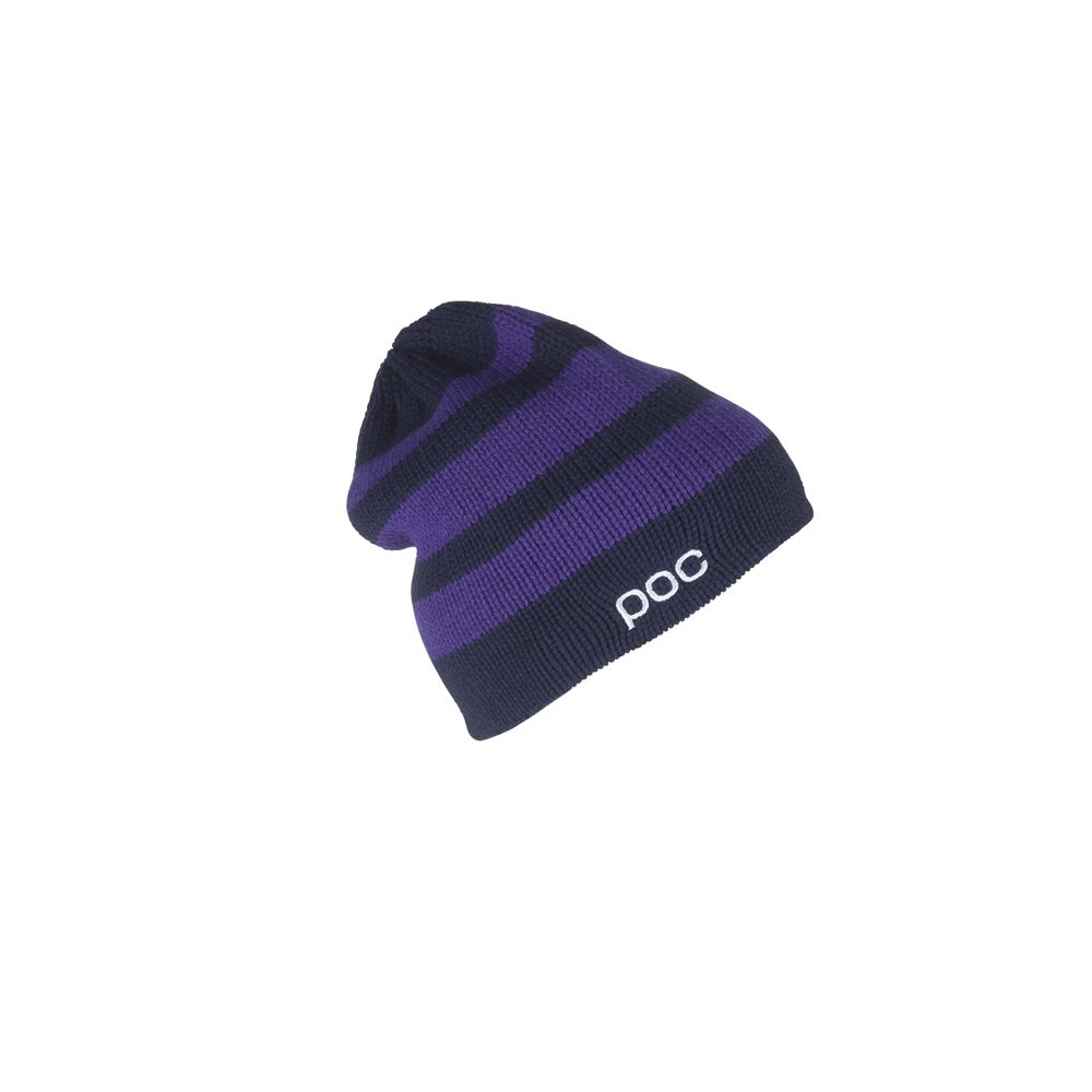 POC Striped Beanie Dubnium Blue/Neon Purple