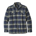 Patagonia Long Sleeved Fjord Mens Flannel Shirt Activist Navy Blue 2019