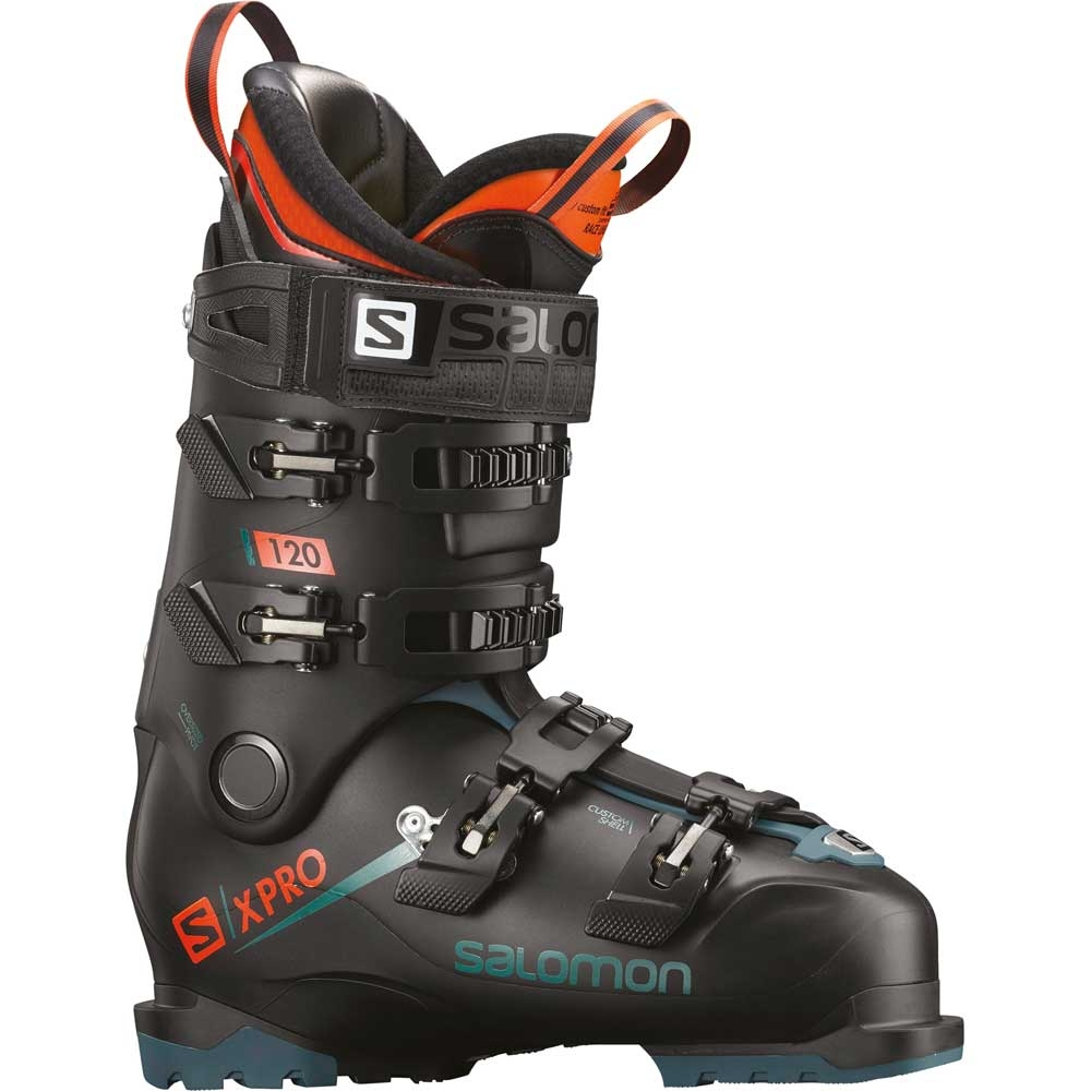Salomon X Pro 120 Ski Boot Black Blue Orange 2019