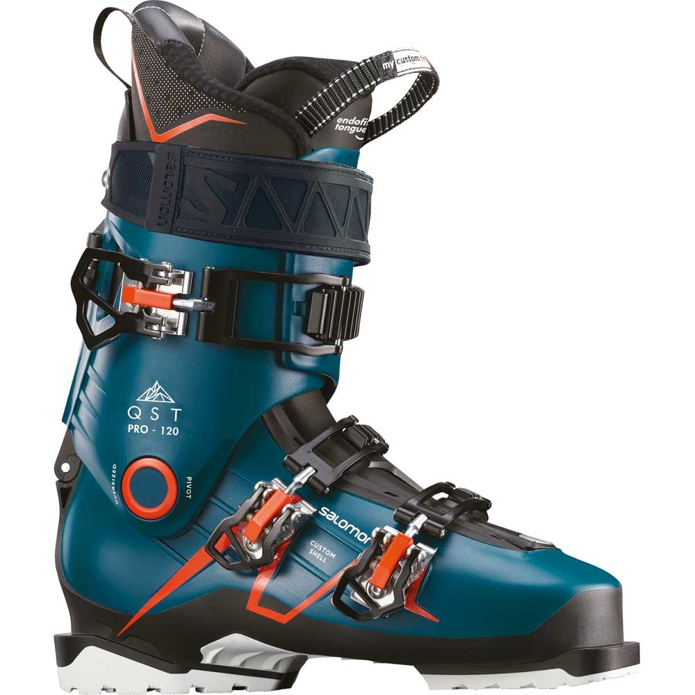 Salomon QST Pro 120 Ski Boot Blue Black Safron 2019