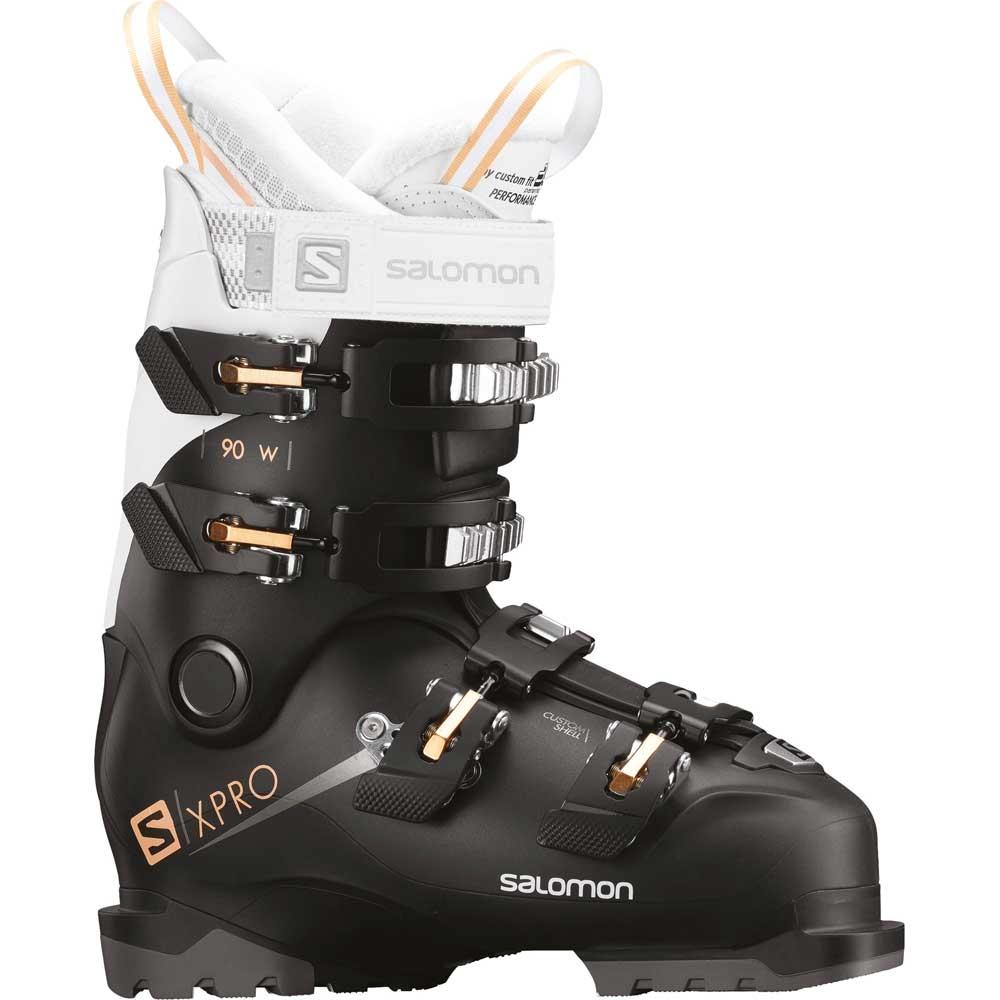 Salomon X Pro 90 W Ski Boot Black White Corail 2019