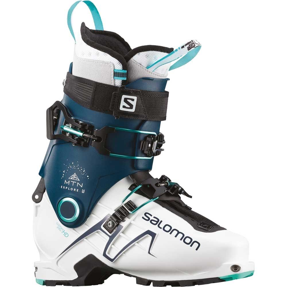 Salomon MTN Explore W Ski Boot White Petrol Blue 2019