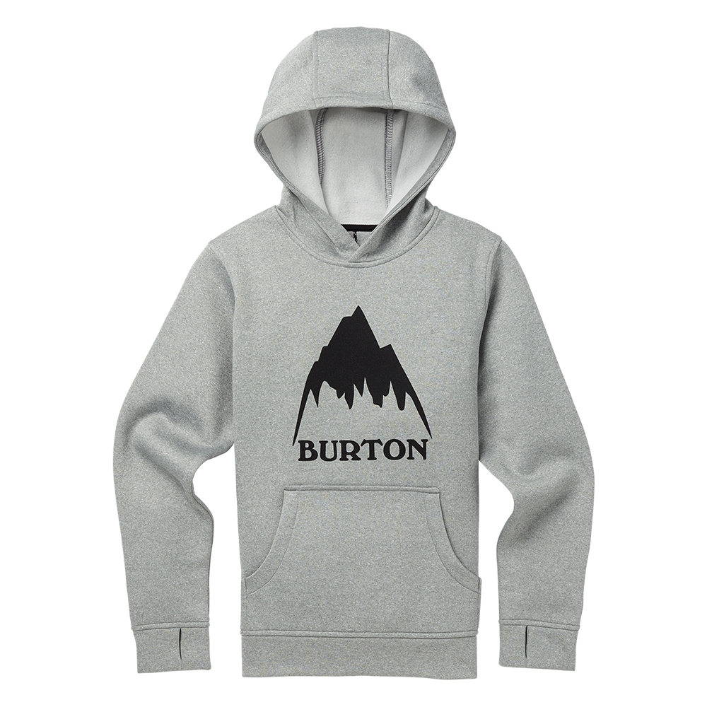 Burton Boys Oak Pullover Hoodie Monument Heather 2019