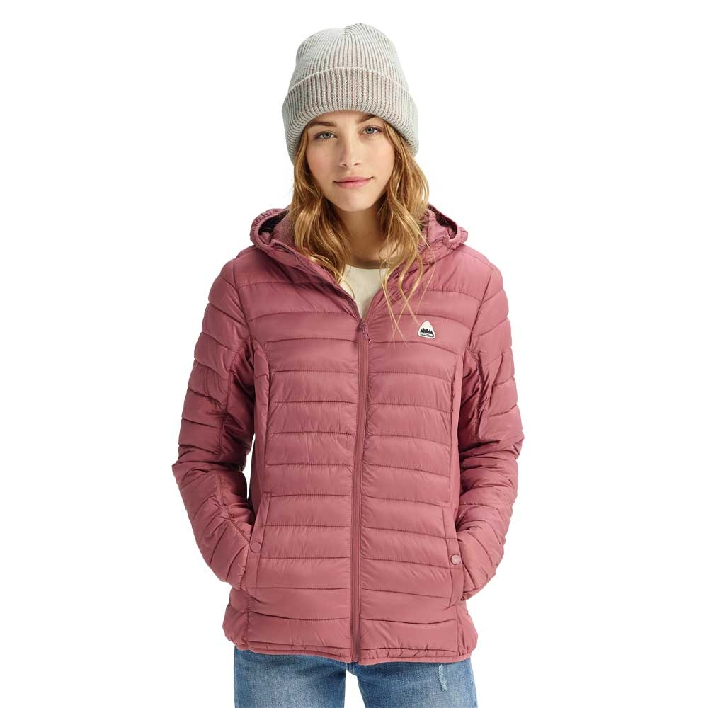 Burton Womens Evergreen Synthetic Hooded Insulator Rose Brown 2019