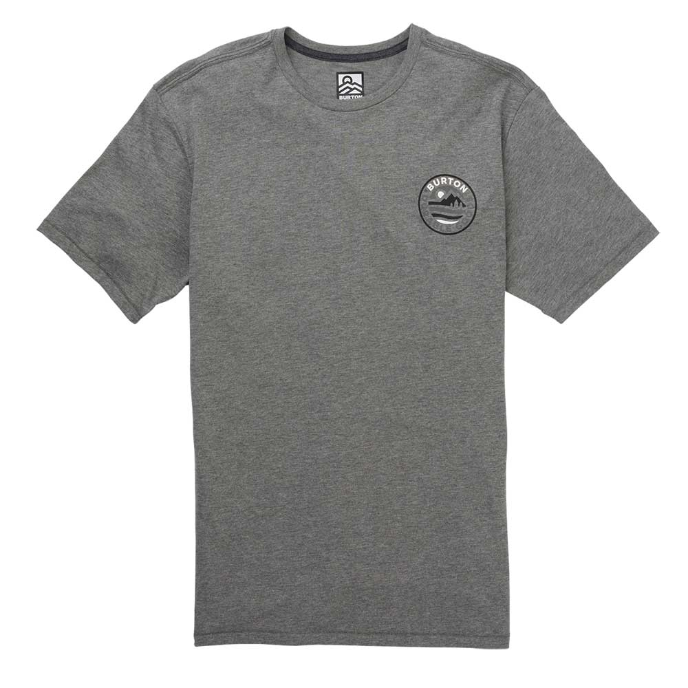Burton Fox Peak Active Tee Gray Heather 2019