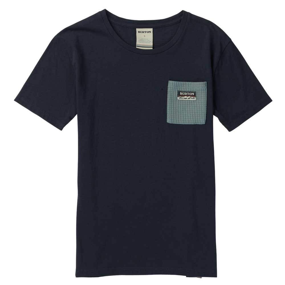 Burton Bel Mar Womens Vneck Pocket Tee Mood Indigo 2019