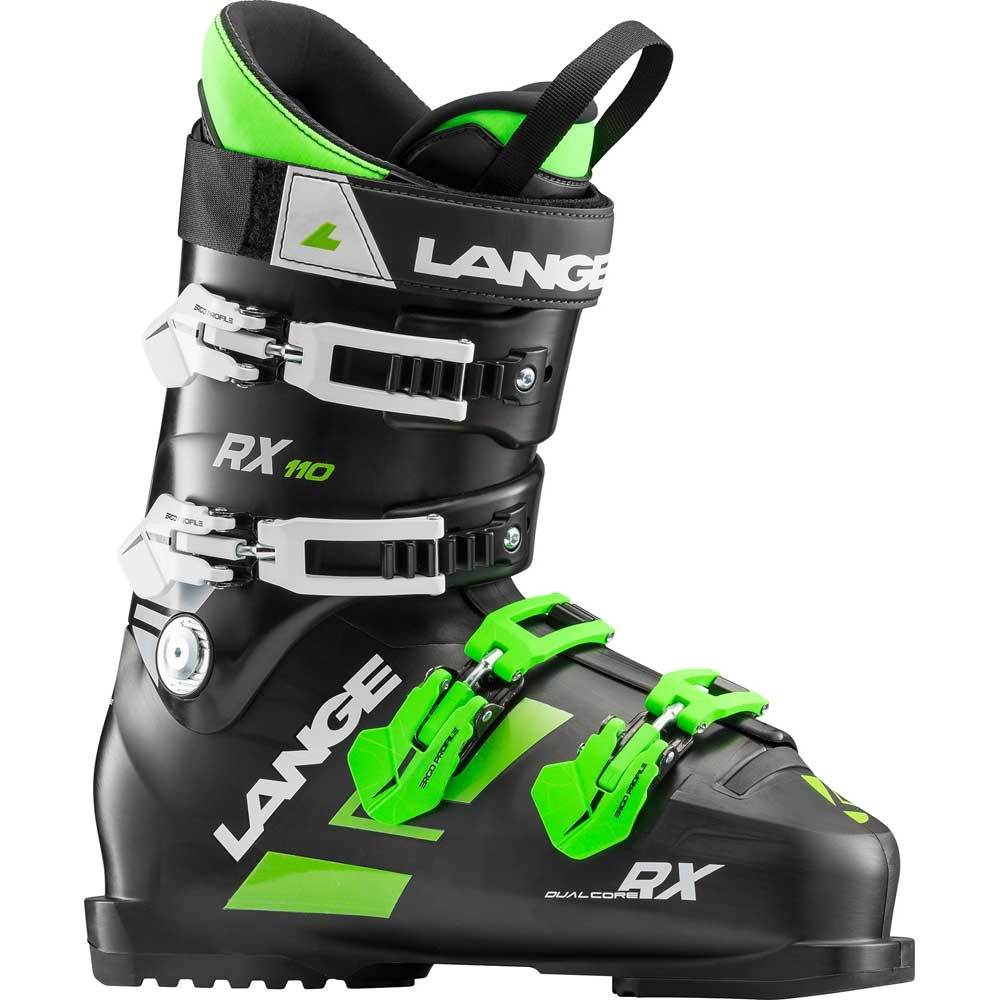 990780923c1 Lange RX 110 Ski Boot Black Green 2019 - Snowtrax