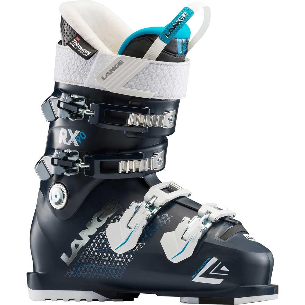 Lange RX 90 W Ski Boot Black/Blue 2019