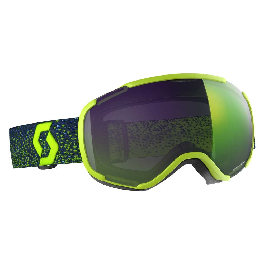 Scott Faze II Yellow Goggle with Enhancer Green Chrome Lens 2019
