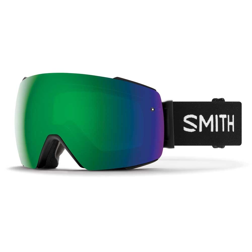 Smith I/O Mag Black Goggle with Sun Green Mirror Chromapop Lens plus Spare Lens 2019