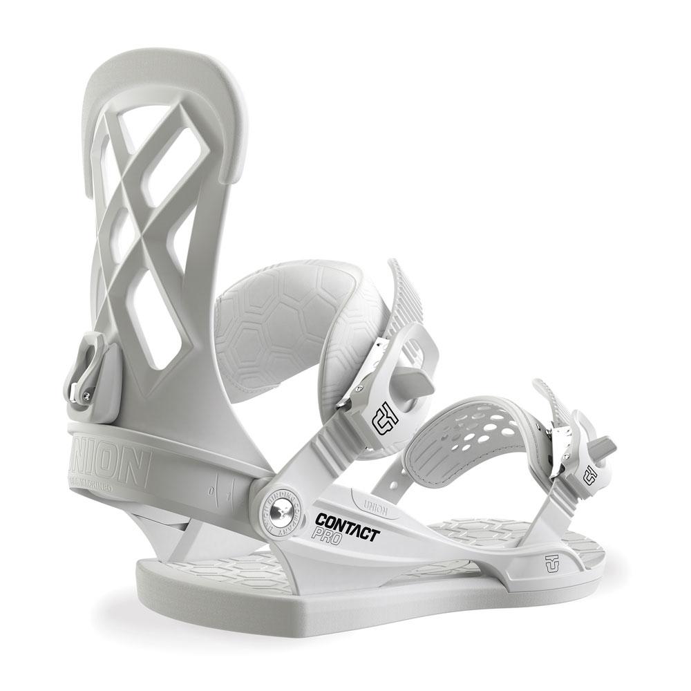 6014a63ed8c Union Contact Pro Snowboard Binding White 2019 - Snowtrax