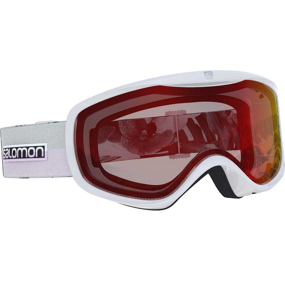 Salomon Sense White Flower Goggle with Low Light Red Lens 2019