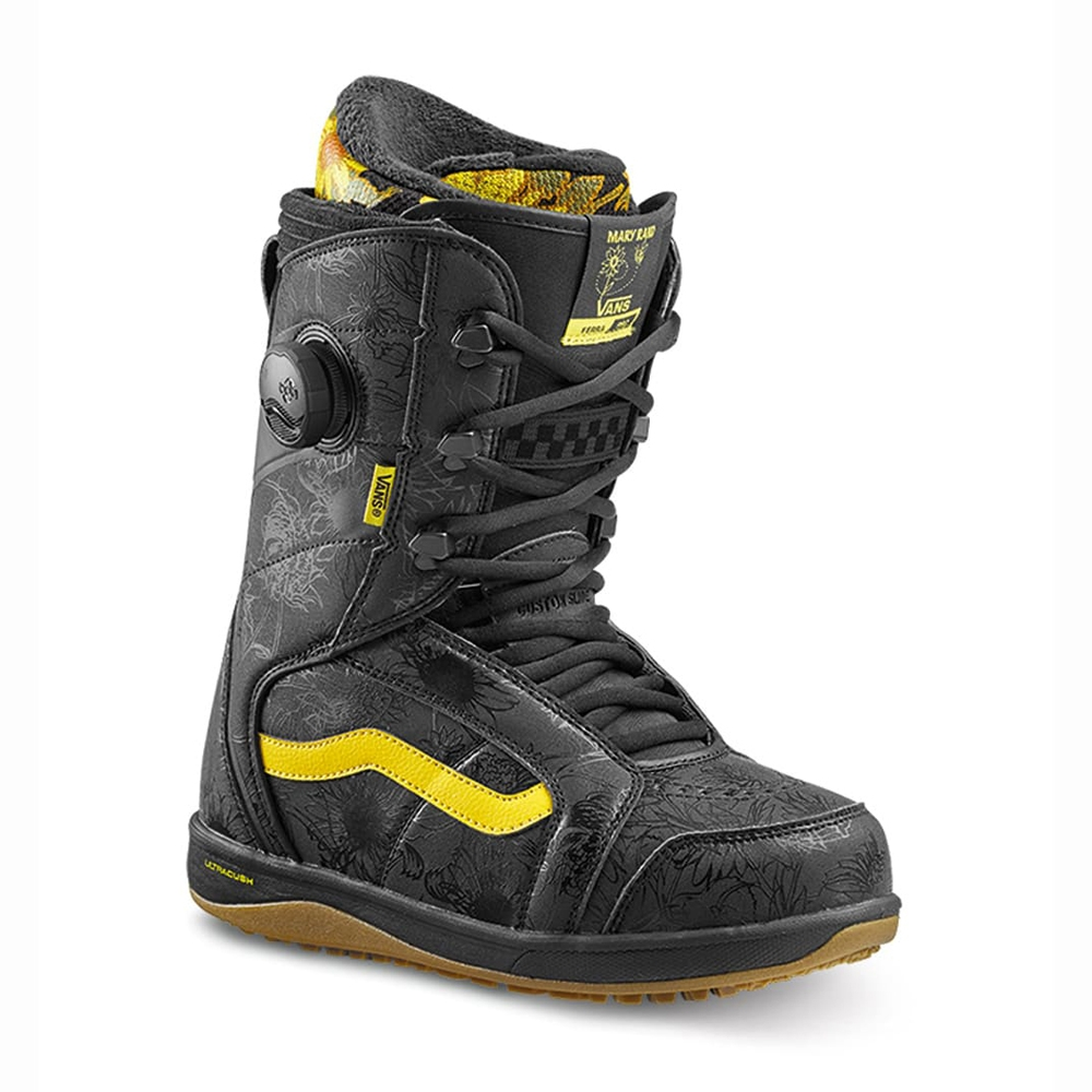Vans Ferra Pro Snowboard Boot Black/Yellow 2019