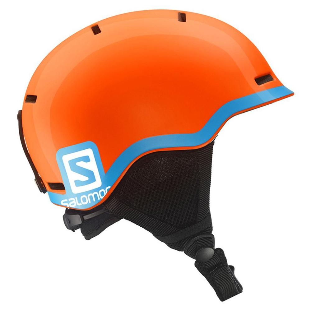 f3af7f302fa9 Salomon Grom Jr Helmet Fluo Orange Blue 2019