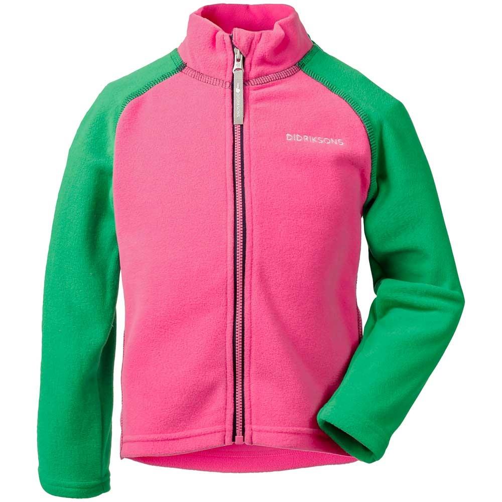 Didriksons Monte Kids Microfleece Jacket Lollipop Pink/Bright Green 2019