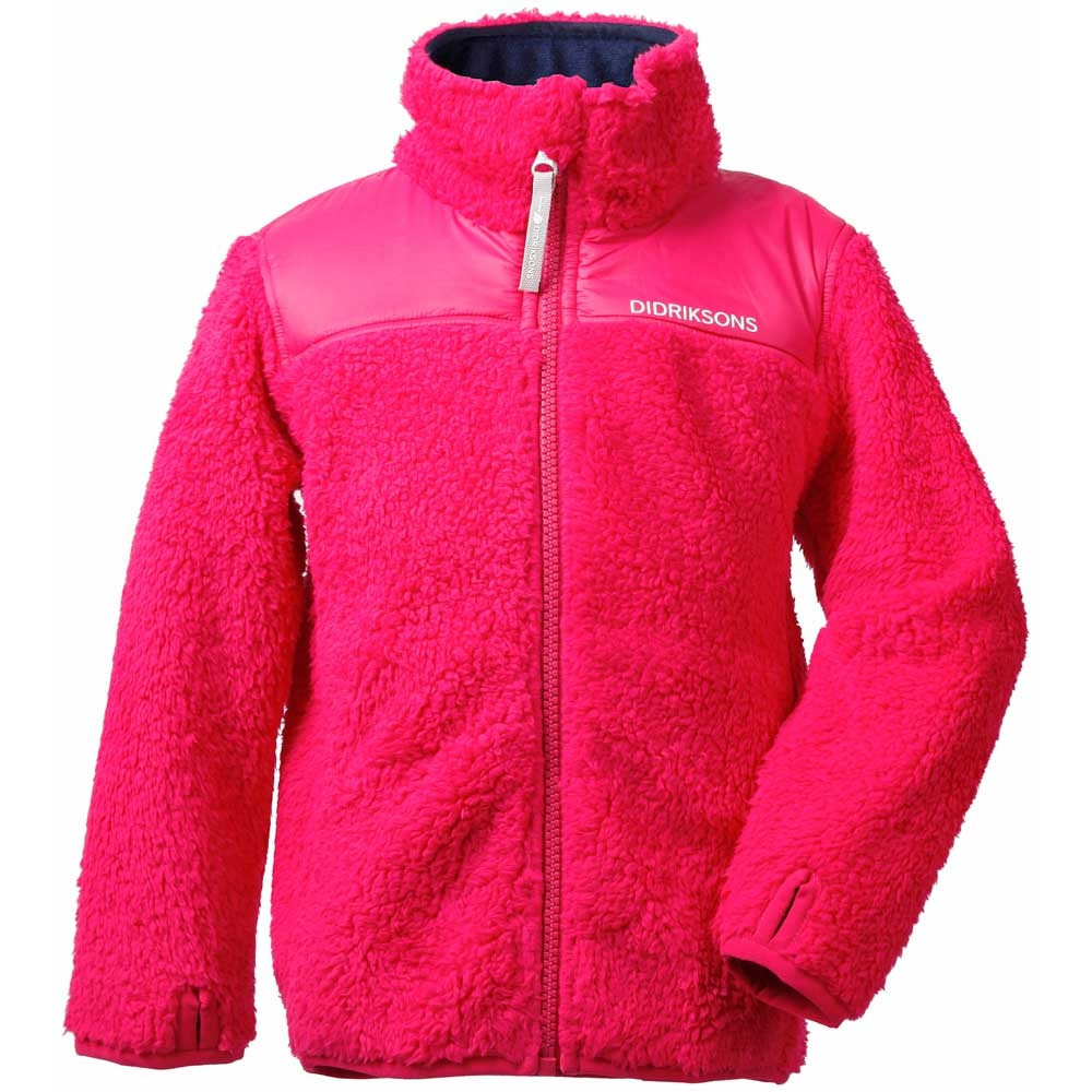 Didriksons Geite Kids Pile Jacket Warm Cerise 2019