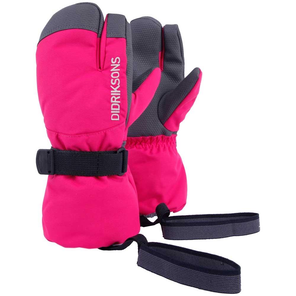 Didriksons Fossa Kids Three Finger Gloves Warm Cerise 2019