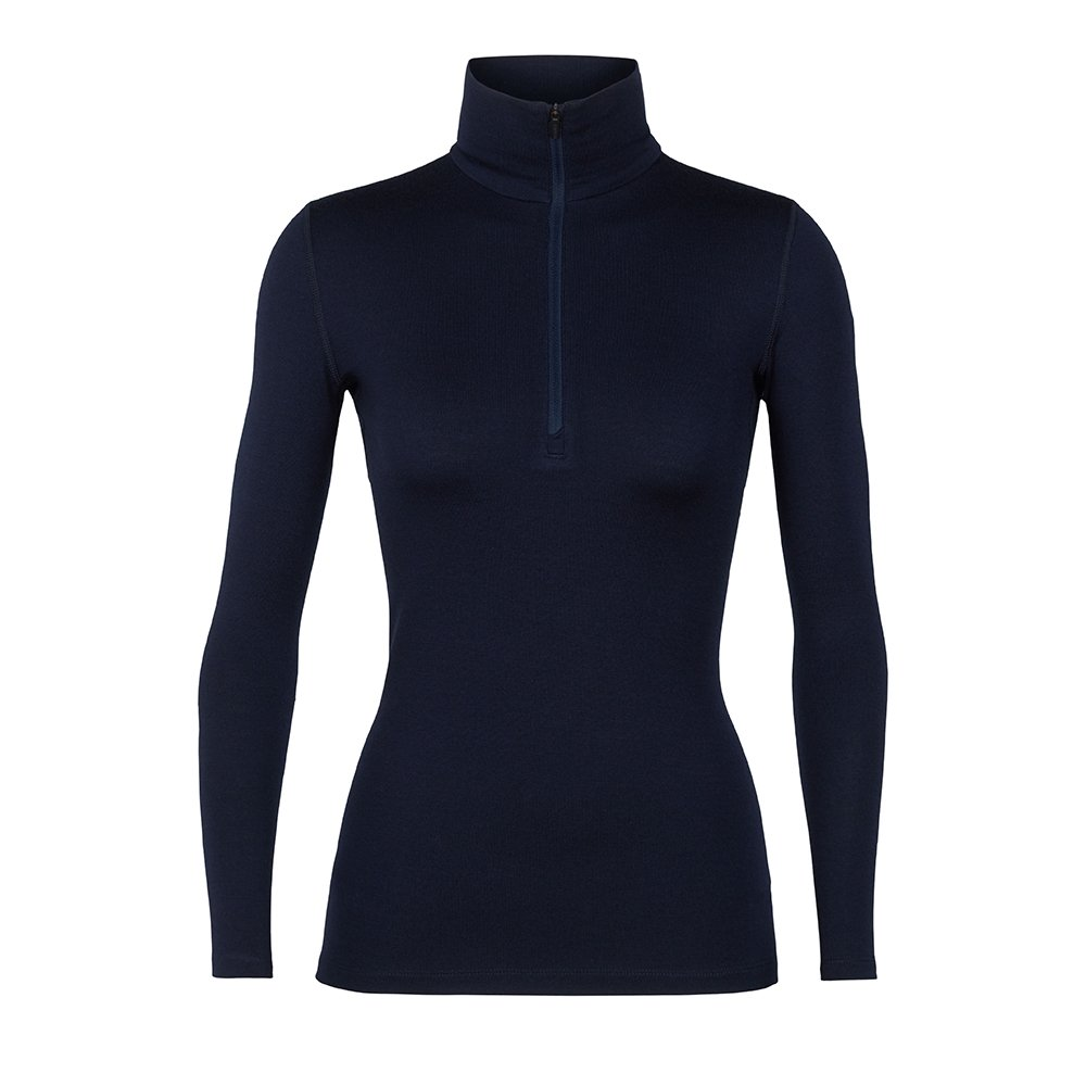 Icebreaker Womens Tech LS Half Zip Midnight Navy 2019