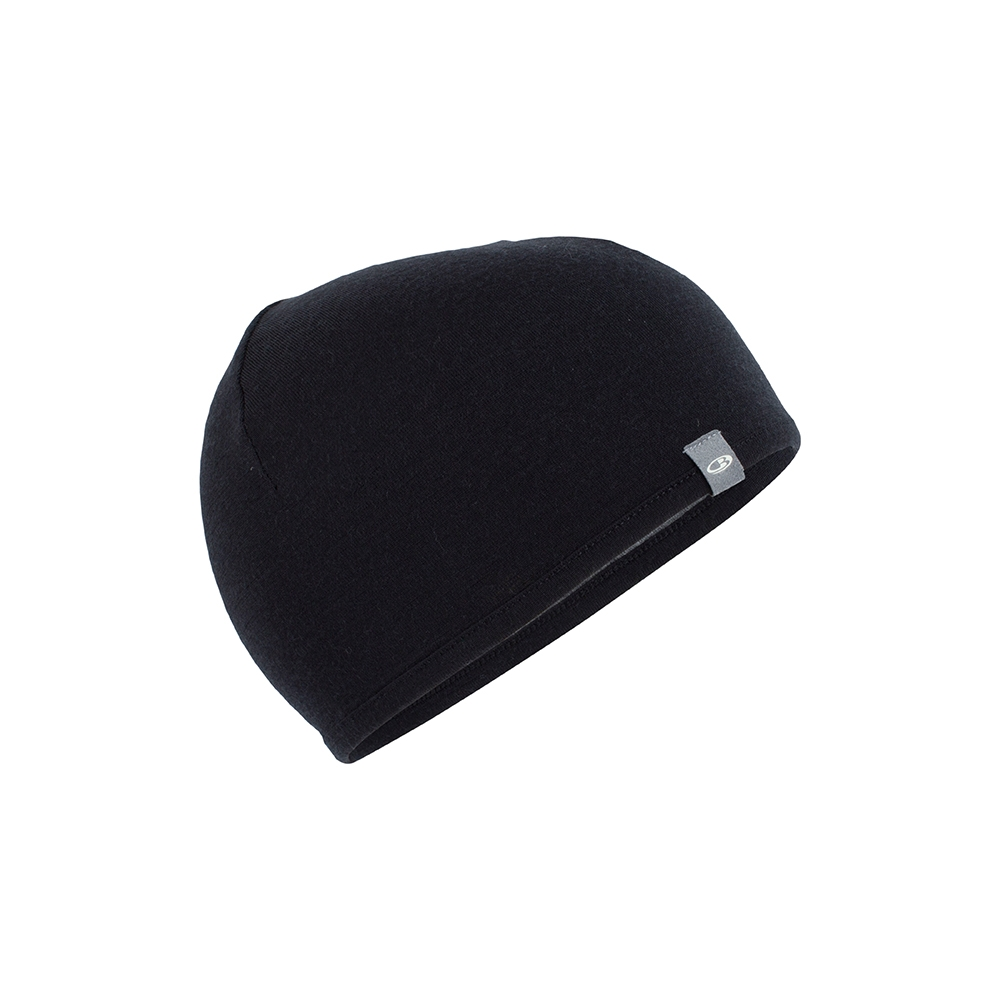 Icebreaker Pocket Hat Black/Gritstone Heather 2019
