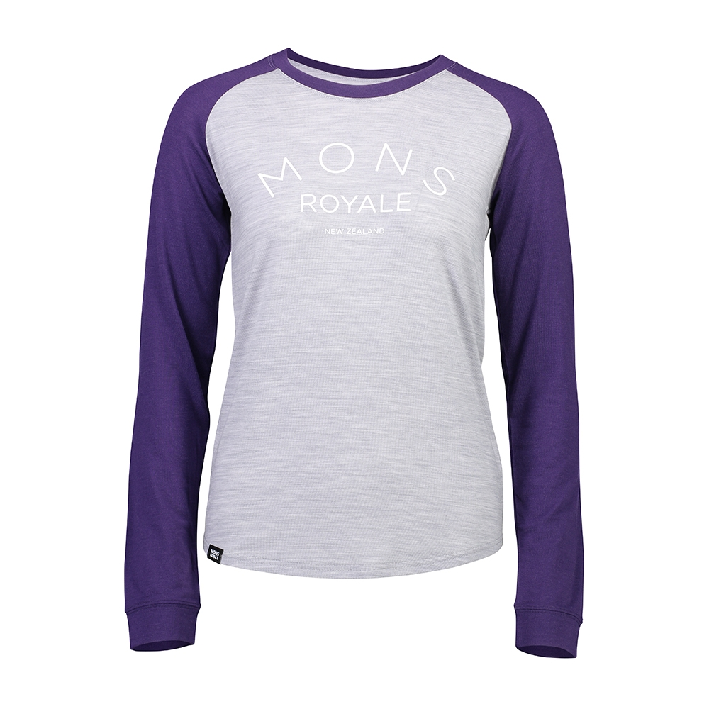 Mons Royale Viva La Raglan Grape/Grey Marl 2019