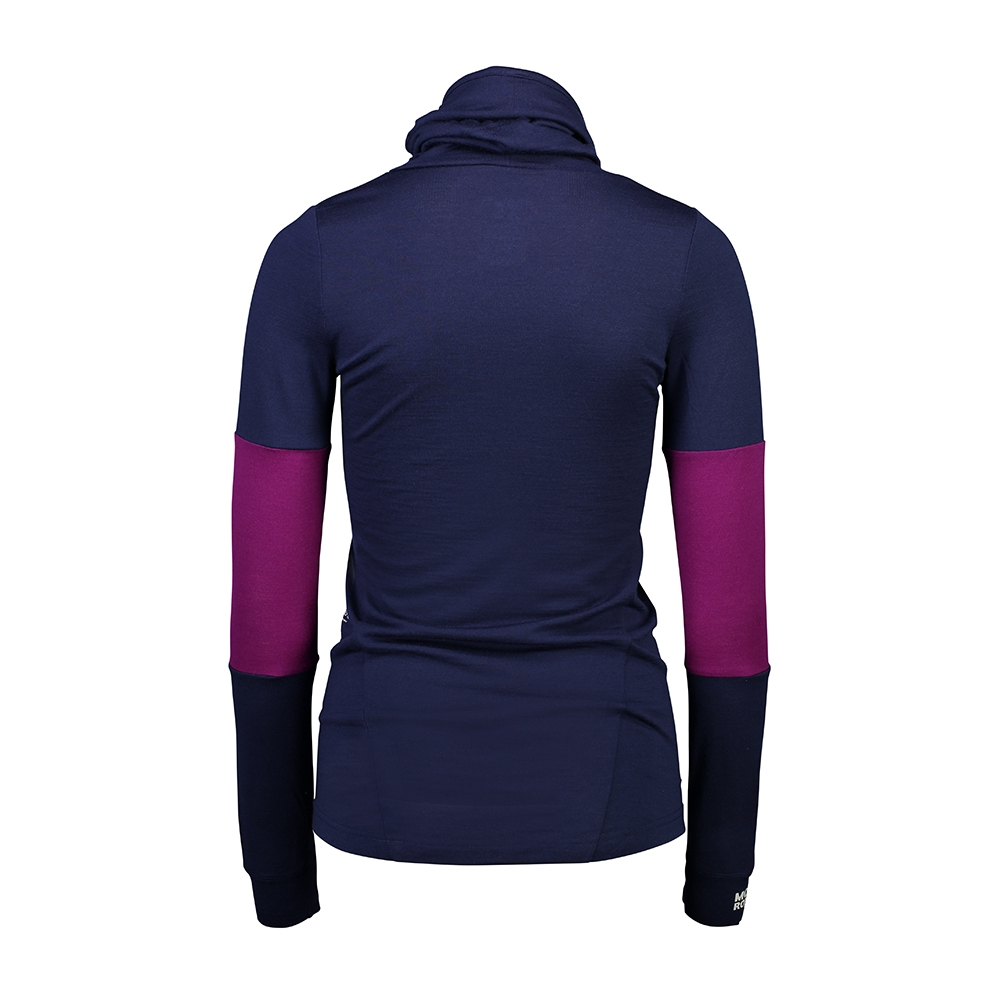 Mons Royale Cornice Rollover LS Navy/Pinot 2019