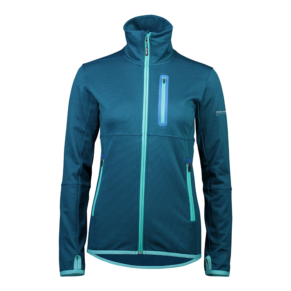 Mons Royale Approach Tech Mid Hoody Oily Blue 2019