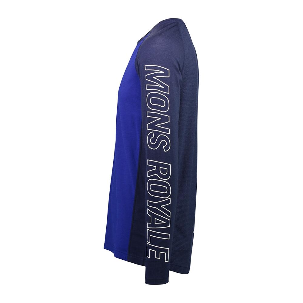 Mons Royale Temple Tech LS Navy/Electric Blue 2019