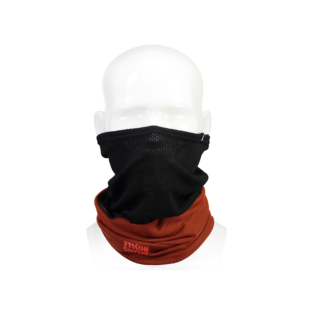 Mons Royale Fifty-Fifty Mesh Neckwarmer Black/Clay 2019