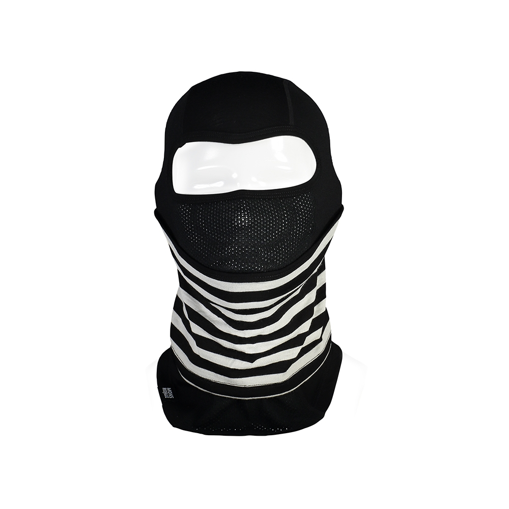 Mons Royale Carbio Balaclava Black/Thick Stripe 2019