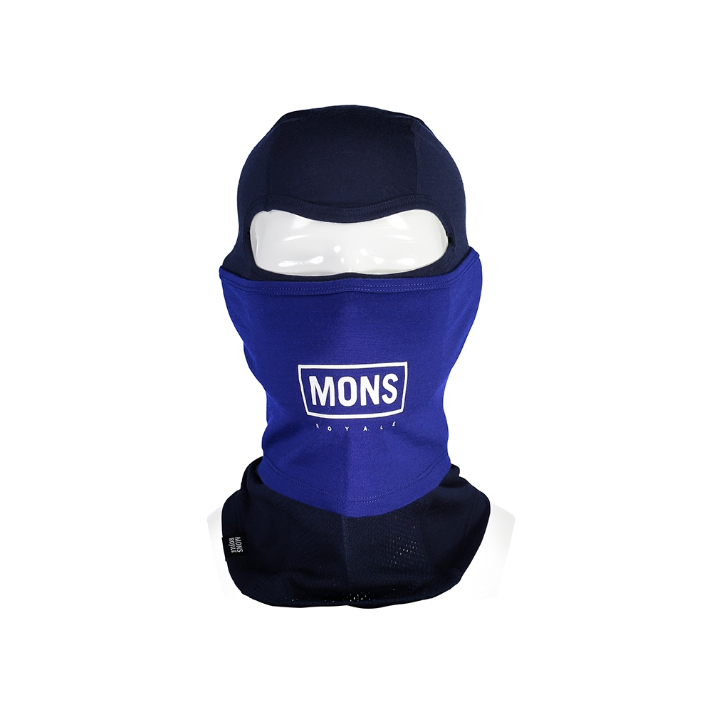 Mons Royale Carbio Balaclava Navy/Electric Blue 2019